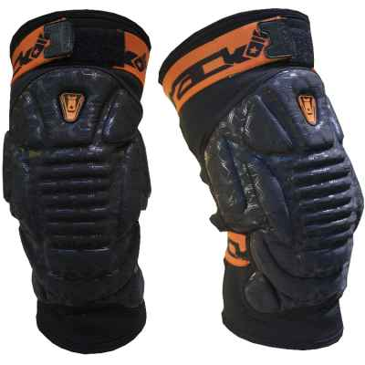 PBRack Armadillo 2.0 Paintball Kneepads / Knieschoner (schwarz/orange) | Paintball Sports
