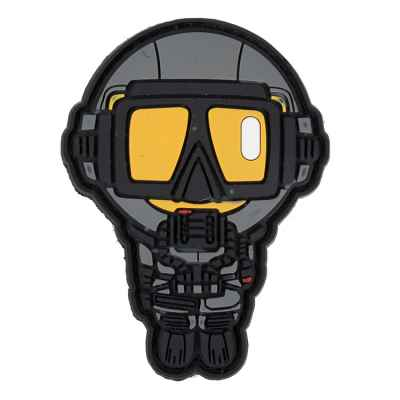 Paintball / Airsoft PVC Klettpatch (Diver)   Paintball Sports