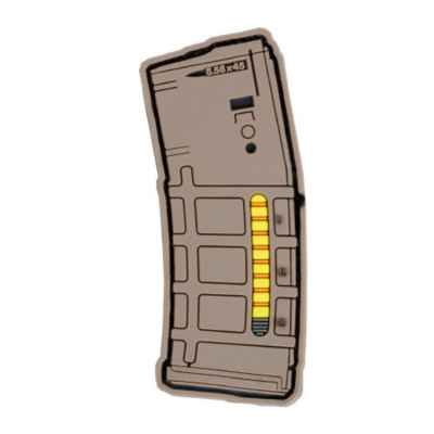 Paintball / Airsoft PVC Klettpatch (Magazin TAN)   Paintball Sports