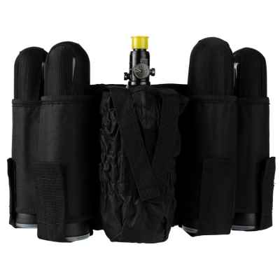 Paintball Tactical Battlepack 4+1 (schwarz) | Paintball Sports