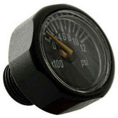 DSG 20mm Micro Manometer für HP Regulatoren (0-5000 PSI) - Black | Paintball Sports