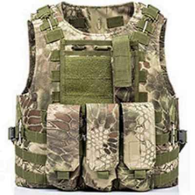 Tactical Paintball Molle Weste mit Taschen (Kryptec Jungle Camo)   Paintball Sports