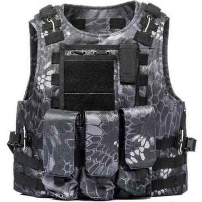 Tactical Paintball Molle Weste mit Taschen (Kryptec Urban Camo) | Paintball Sports