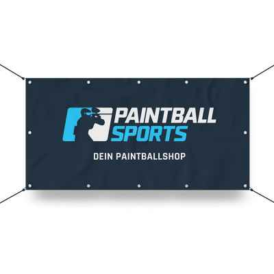 Paintball Sports Werbebanner 130x70cm (PBS Logo) | Paintball Sports