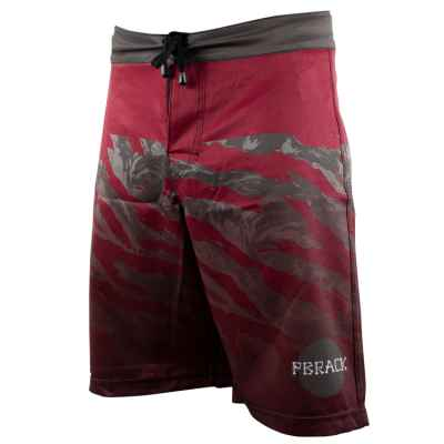 Pbrack Board Shorts (Maroon/Grau Camo) | Paintball Sports
