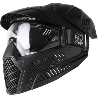 ProShar BASE FULL COVER Paintball Maske (single Lens) - schwarz | Paintball Sports