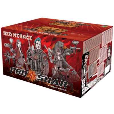 ProShar Red Menace Premium Szenario Paintballs (2000er Karton) | Paintball Sports
