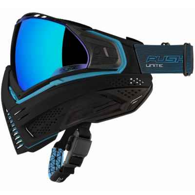 Push Unite Paintball Maske (schwarz / blau) | Paintball Sports
