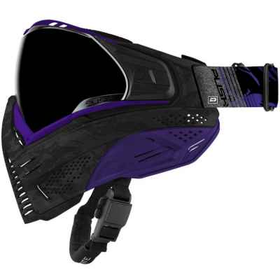 Push Unite Paintball Maske (Black Camo / Purple) | Paintball Sports