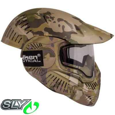 Sly Annex MI-7 Full Cover Paintball Thermal Maske (V-Cam Camo) | Paintball Sports