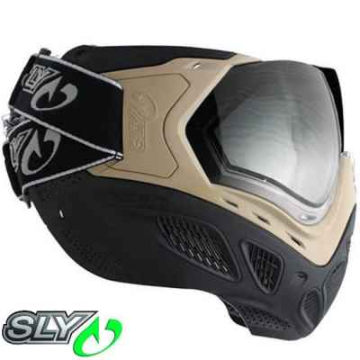 Sly Profit Paintball Thermal Maske (FDE Tan/Champagner) | Paintball Sports