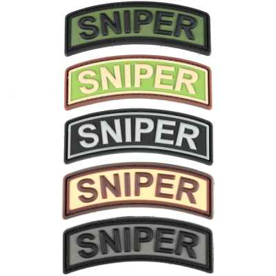 Paintball / Airsoft PVC Klettpatch (Sniper Tab)   Paintball Sports