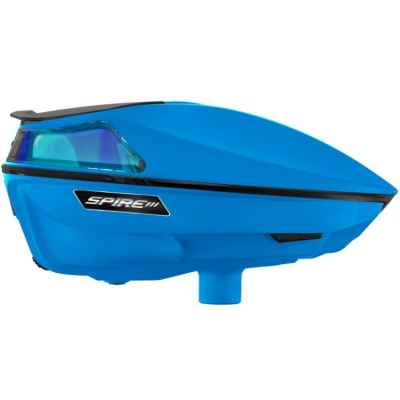 Virtue Spire 3 Paintball Hopper / Loader (Cyan blau) | Paintball Sports