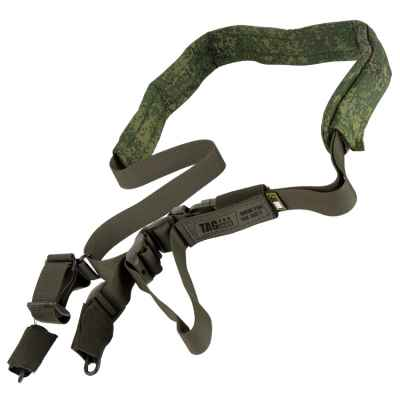 Taginn PRO SLING Trageriemen / Tactical Sling (Green, Comfort Pad EMR) | Paintball Sports