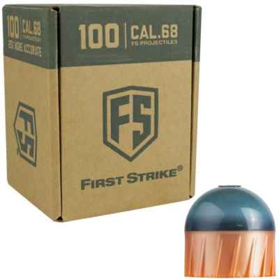Tiberius Arms First Strike Paintballs 100 Schuss Box (dunkelgrau/kupfer) | Paintball Sports