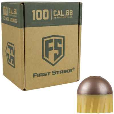 Tiberius Arms First Strike Paintballs 100 Schuss Box (Kupfer/gelb) | Paintball Sports