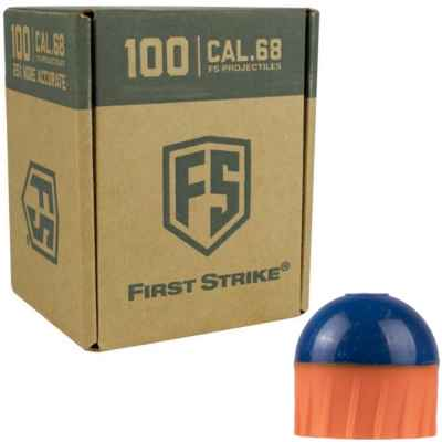 Tiberius Arms First Strike Paintballs 100 Schuss Box (orange/blau) | Paintball Sports