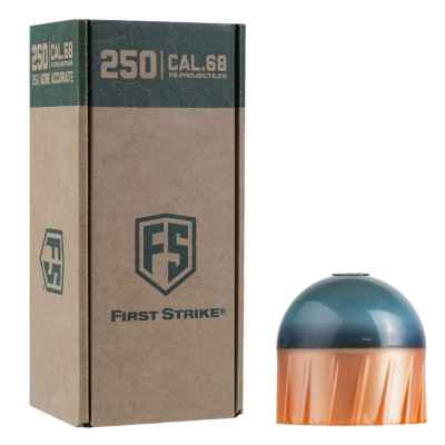 Tiberius Arms First Strike Paintballs 250 Schuss Big-Box (dunkelgrau / kupfer) | Paintball Sports