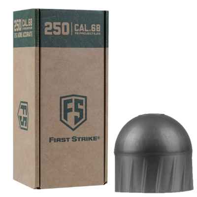 Tiberius Arms First Strike Paintballs 250 Schuss Big-Box (dunkelgrau) - Füllung WEISS | Paintball Sports