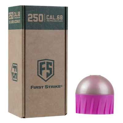 Tiberius Arms First Strike Paintballs 250 Schuss Big-Box (pink/silber) | Paintball Sports