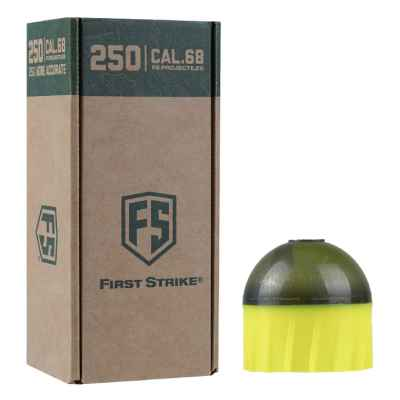 Tiberius Arms First Strike Paintballs 250 Schuss Big-Box (gelb/smoke) | Paintball Sports