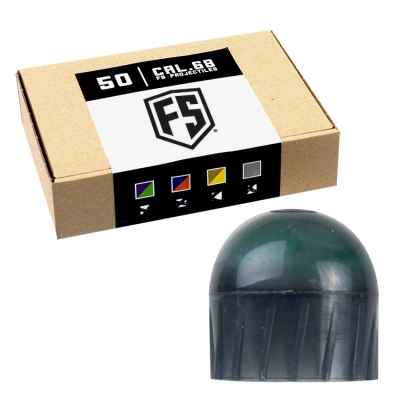 Tiberius Arms First Strike Paintballs 50 Schuss Box (dunkelgrau) - Füllung GRÜN | Paintball Sports