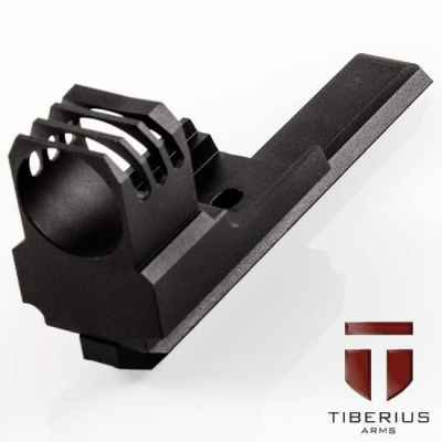 Tiberius Arms T8.1 & T9.1 Ripped Front Shroud (schwarz) | Paintball Sports
