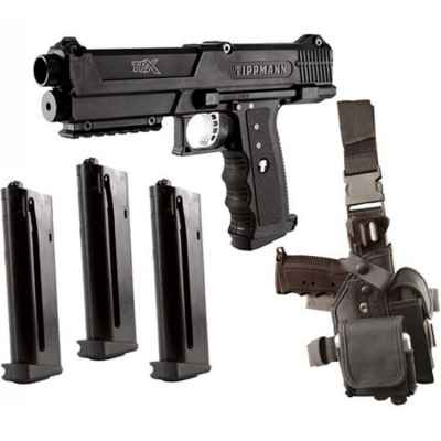 Tippmann TPX Deluxe Pistol Kit (schwarz) | Paintball Sports