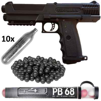 Tippmann TPX / TiPX Pistole HOME DEFENCE Kit (schwarz) | Paintball Sports