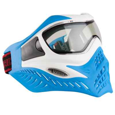 V-Force Grill Paintball Thermalmaske Ltd Edition (white/blue) | Paintball Sports