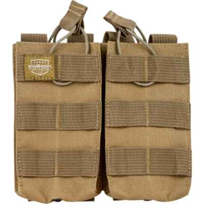 Valken Tactical Molle Magazine Pouch / Magazintasche M16 / M4 / AR-15 (Double) Tan | Paintball Sports