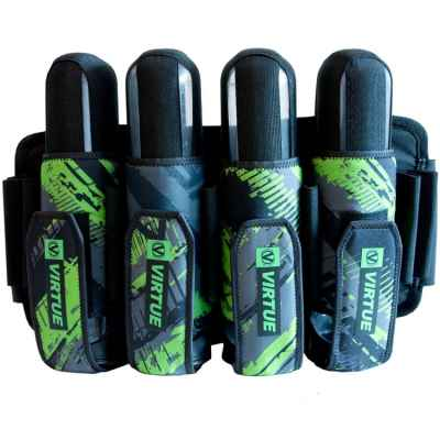 Virtue Elite Harness Paintball Battlepack (4+7) - NEON GRÜN | Paintball Sports