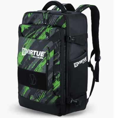 Virtue Gambler Expanding Gear Backpack / Paintball Rucksack (Lime) | Paintball Sports