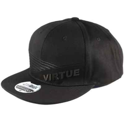 Virtue Paintball Snapback Hat (Black - Marauder) | Paintball Sports