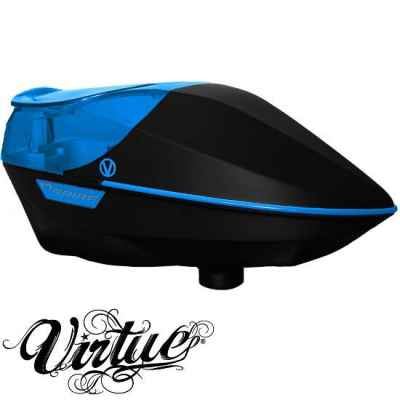 Virtue Spire Paintball Hopper (schwarz/Cyan) | Paintball Sports