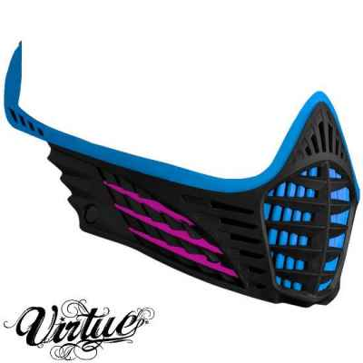 Virtue VIO Facemask / Maskenrahmen (Cyan - pink - schwarz) | Paintball Sports
