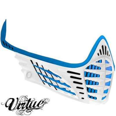 Virtue VIO Facemask / Maskenrahmen (Cyan / weiss) | Paintball Sports