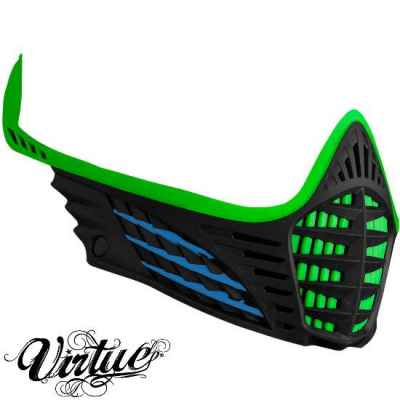 Virtue VIO Facemask / Maskenrahmen (Lime - cyan - schwarz) | Paintball Sports