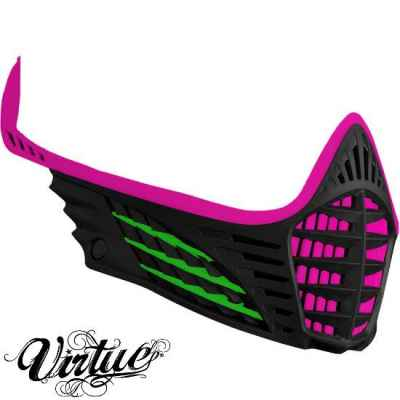 Virtue VIO Facemask / Maskenrahmen (pink - lime - schwarz) | Paintball Sports