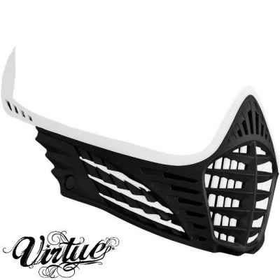 Virtue VIO Facemask / Maskenrahmen (Weiss - schwarz - weiss) | Paintball Sports
