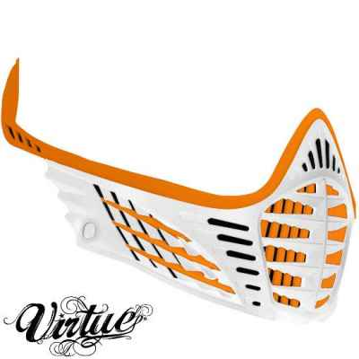 Virtue VIO Facemask / Maskenrahmen (orange / weiss) | Paintball Sports