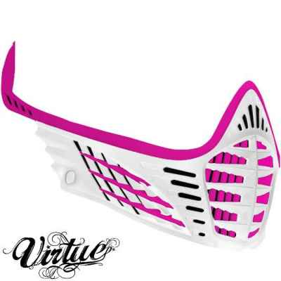 Virtue VIO Facemask / Maskenrahmen (pink /weiss) | Paintball Sports
