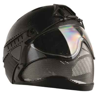 WarQ Fullface Airsoft Schutzhelm (RAPTOR-Black) | Paintball Sports