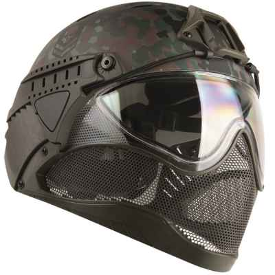 WarQ Fullface Airsoft Schutzhelm (FLECKTARN Special Edition) | Paintball Sports
