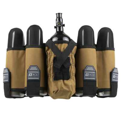 XRCS Paintball Tactical Battlepack 4+1 (Desert Tan) | Paintball Sports