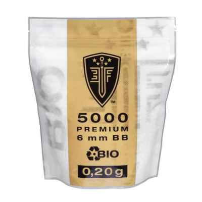 Elite Force BIO Airsoft BB´s Im Zipper Beutel (5000stk) 0.20g | Paintball Sports