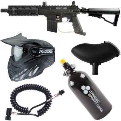 Tippmann Sierra One Tactical Paintball Sparpaket / Komplettset (schwarz) | Paintball Sports