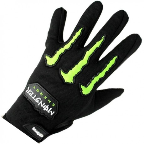 Monster-Energy CLAWS Paintball Handschuhe (schwarz/grün) | Paintball Sports