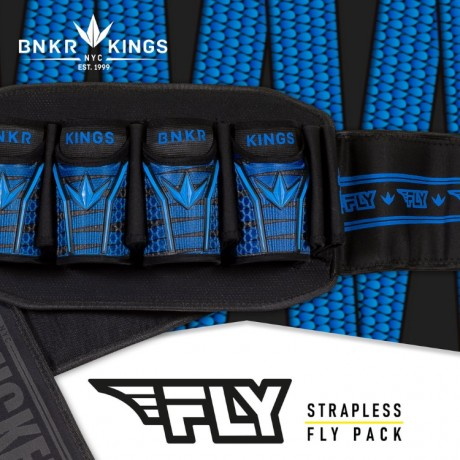 Bunkerkings Fly Pack Paintball Battlepack (4+7) - Blue Laces | Paintball Sports