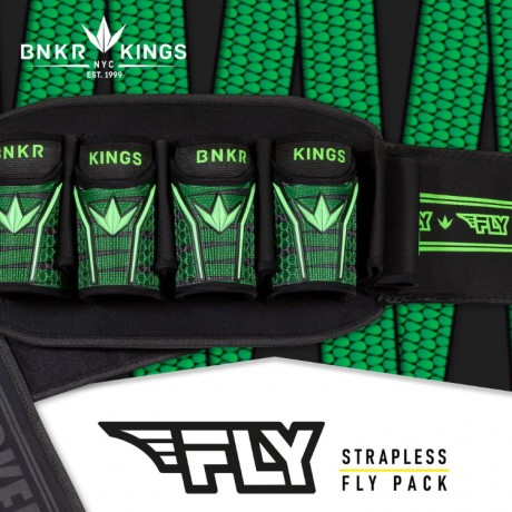 Bunkerkings Fly Pack Paintball Battlepack (4+7) - Lime Laces | Paintball Sports